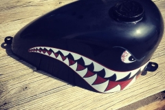 Ww2 inspired fuel tank for the shovel head...