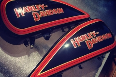 Hand- brushed vl Harley tanks,finished up today